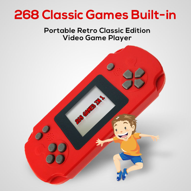 Christmas Gift for kids Mini 2.0inch Screen Game Console Handheld 8 Bit Game Machine Portable Game Player 268 Classic Games