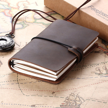 Retro Leather Notebooks Journals Diary Book Agenda Handmade Planner  Vintage Refillable Travel journal Cowhide Gift traveler vintage leather notebook key design vintage cowhide paper retro straps diary doodle book notepads diary