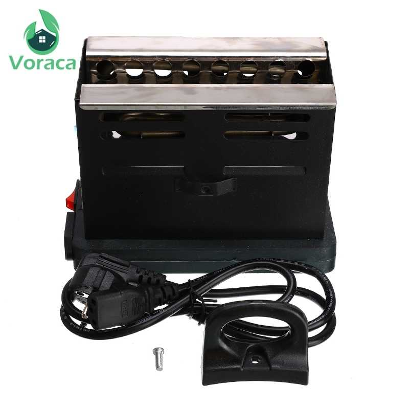 Shisha Hookah Charcoal Stove Heater Square Electric Coal Burner Stove Hot Plate Accessories With EU Plug Cable Black New