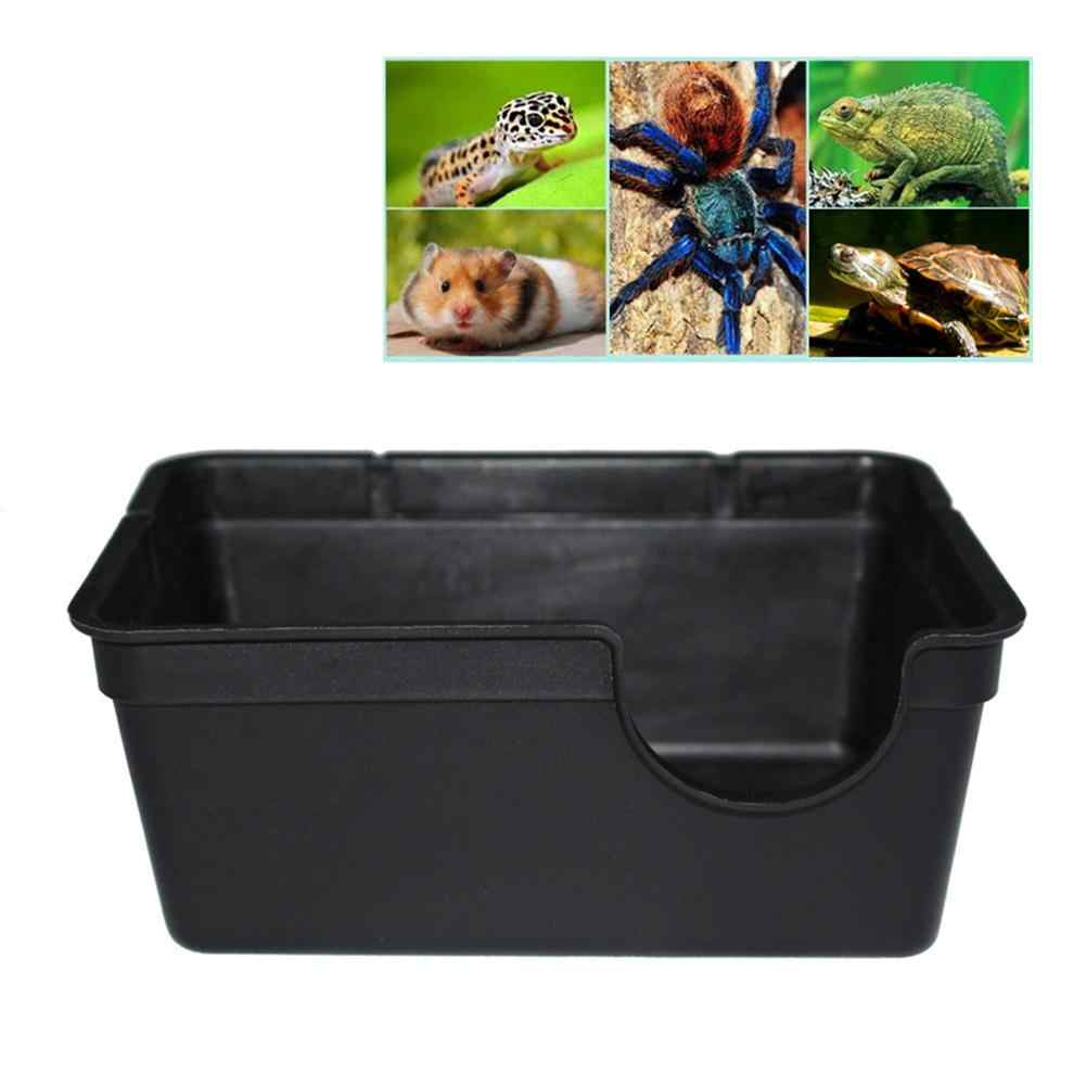 Pequeño/grande Reptiles mascotas juguetes Gecko refugio de serpiente casa comida cuenco de agua cueva caja de escalada