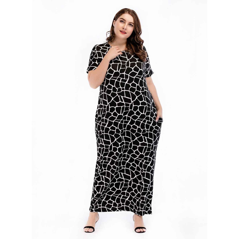 Новое Женское платье в европейском и американском стиле, большой размер, арабский свободный халат, 4XL