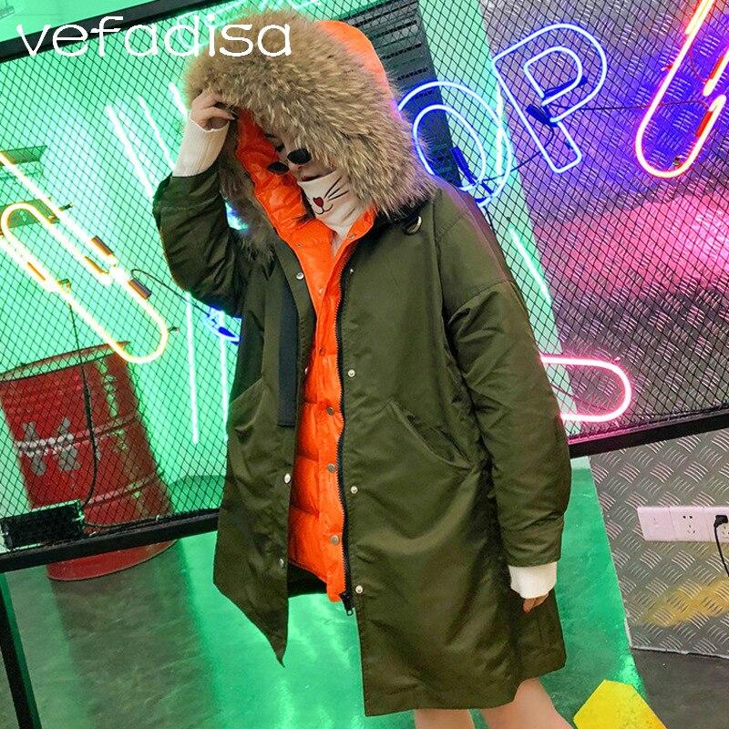 Avec Army De Long Au Dq575 Doublure Femmes Des Col Pardessus Coton Garder 2018 Tranchée Couleurs Chaud Fourrure Twinset Green Hiver Correspondance Vefadisa SZnxORwpx