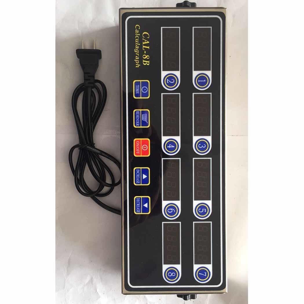Portable Chronomètre écran lcd 8 Canal CAL-8B minuterie numérique Accueil Cuisine, etc 2 W AC 220 V 50/60Hz Cuisine
