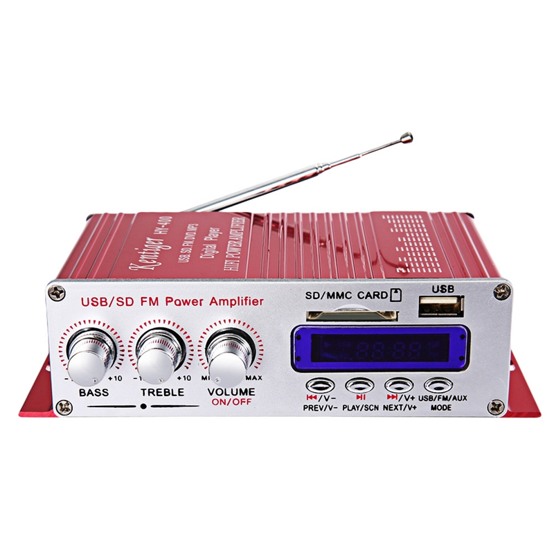 Hot AMS-Kentiger Hy-400 Hi-Fi Car Stereo Amplifier Radio Mp3 Speaker With Fm Lcd Display Power Player For Auto Motorcycle Remo