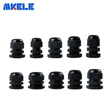 10pcs PG7 Cable Gland PG16 PG9 PG11 Black Plastic Nylon Waterproof Cable Glands Joints IP68 Cable Connector PG13.5 PG21 PG48 стоимость