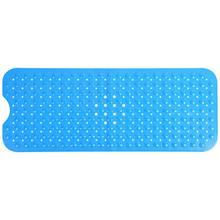 Прямоугольный нескользящий безопасный коврик с присоской для ванной, кухни, ванной, домашнего использования, синий цвет, профессиональный