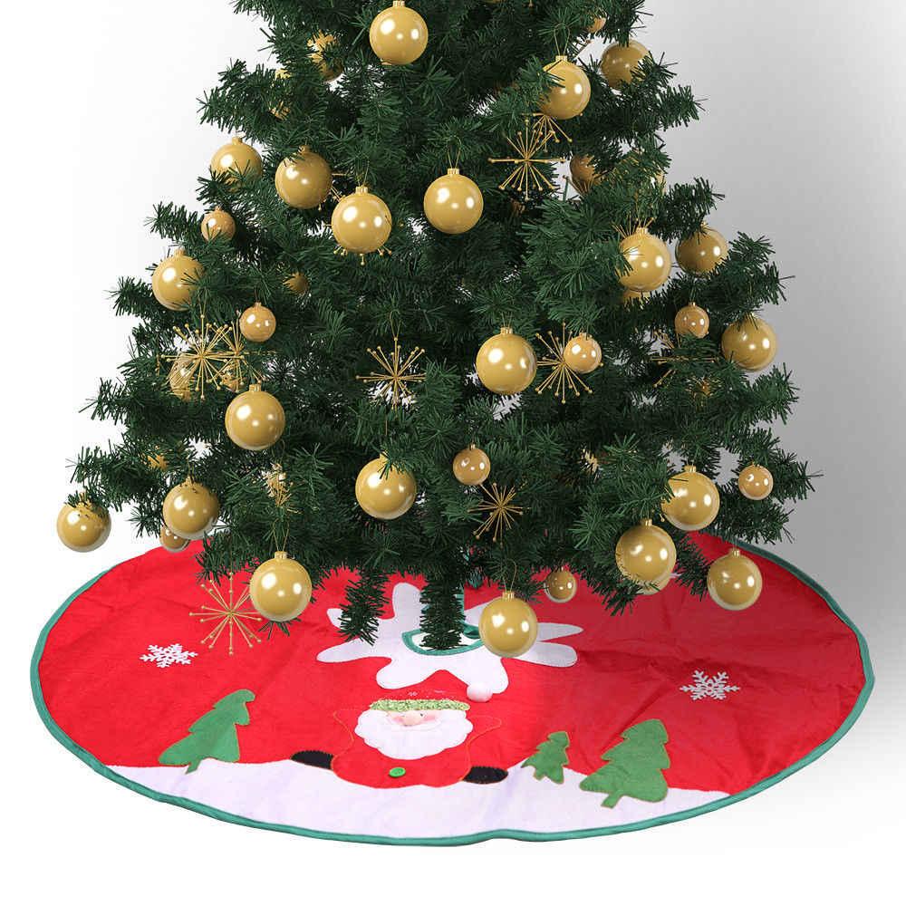 Grande Albero Di Natale Gonne di Base del Vestito Della Copertura Decorazione Rossa di Natale Decorazione Babbo natale Sveglio del Modello Del Partito di Decorazione Albero di natale Gonne
