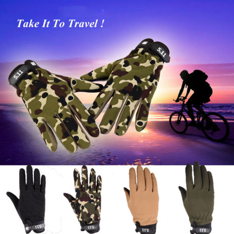 Outdoor Cycling Winter Wear Army Military Tactical Prevent Slippery And Wear-Resisting Gloves Outdoor Full Finger EA