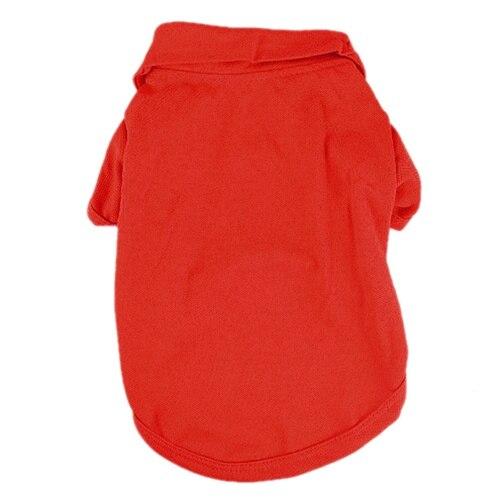 Cotton T-shirt Pet T-shirt Dog Cat clothing Red
