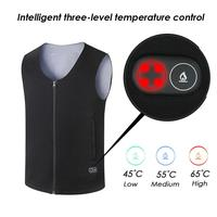 Controllable USB Charging Intelligent Heating Jacket Warm Body Heat Electric Battery Powered Heated Vest Heat Insulate Waistcoat