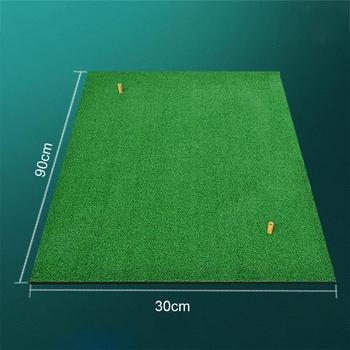Indoor Backyard Golf Mat Training Hitting Pad Practice Rubber Tee Holder Grass Mat Grassroots Green 30x90cm Golf Training Tools