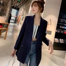 купить Turn-down collar Pocket Blazer Coat Women Ruched Sleeve Black Suit Blazer OL Slim Spring Outerwear по цене 1186.04 рублей