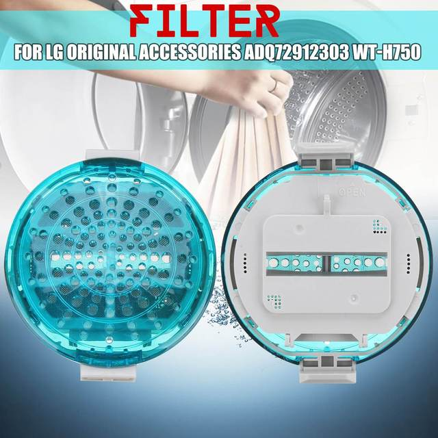 Máquina de Lavar Roupa Máquina de lavar Filtro de Fiapos Para LG ADQ72912303 WT-H750 Filtração Filtro de Dispositivo Da Remoção Do Cabelo Saco de Ferramentas de Limpeza
