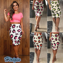 Summer Skirts 2019 New Sumemr Women Stretchy High Waist Print Pencil Sexy Skinny