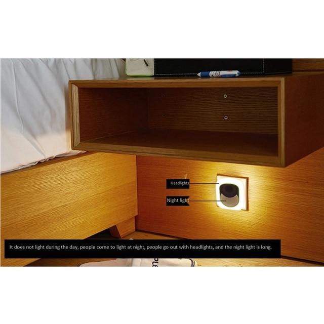 Đèn tường, Đèn đèn LED thông minh Đèn Ngủ Nhà Cắm Cơ Thể Cảm Ứng Tự Động Phòng Tắm Ổ Cắm Lối Đi Đầu Giường Đèn Tường Cho Bé Bé Feedi