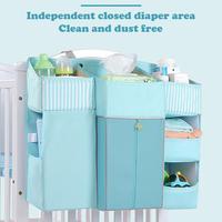Baby Crib Bed Hanging Storage Bag Baby Bed Organizer Newborn Cot Crib Bedding Set Child Kid Storage Pockets Portable Diaper Bag