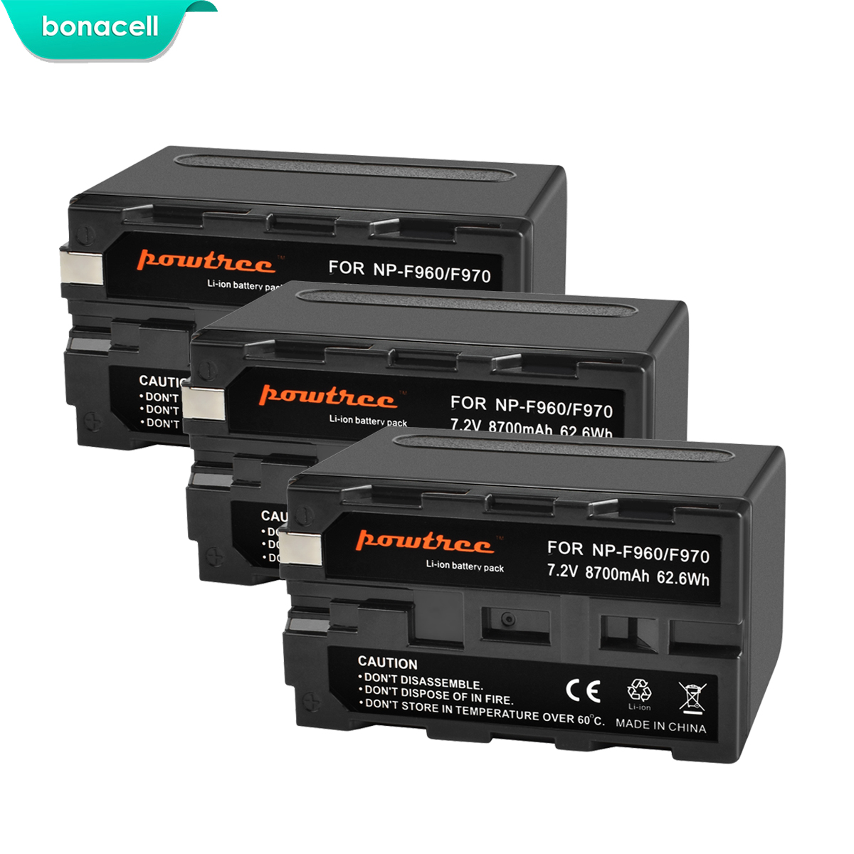 Image 3 - Bonacell 7.2V 8700mAh NP F960 NP F970 NP F960 F970 F950 Battery For Sony PLM 100 CCD TRV35 MVC FD91 MC1500C L10-in Digital Batteries from Consumer Electronics