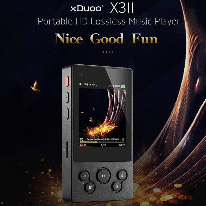 Xduoo X3II X3 II lecteur de musique MP3 bluetooth 4.0 AK4490 salut Fi Audio Mp 3 lecteur Dsd Mini lecteurs de décodeur Mp3 pour le soutien 256 GB