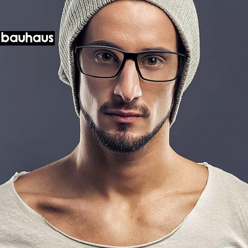 Bauhaus Brand Top Quality Ultem Glasses Frames Fashion Colorful Optical Frame For Women And Men Square Frame 7018 Myopia Clear