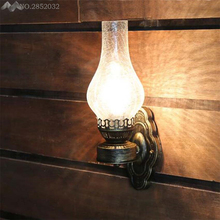 Rustic Iron Loft Wall Lamps Vintage Kerosene Lantern Lights Rusty Corridor Hallway LED Wall Sconce Lamps Lighting Matty Fixtures antique rustic iron waterproof outdoor wall lamp vintage kerosene lantern light rusty matte black corridor hallway wall light