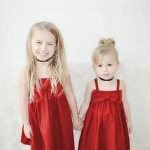Pudcoco Baby Girl Dress New Cute Baby Girls Toddler Kid Summer Sundress Bowknot Short Mini Vest Dress Outfit