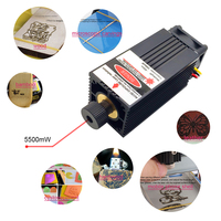 5500mW 450nm Blue violet Light Laser Head for DIY Carving Engraving Machine Engraver Accessory Power Tools