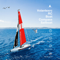 Volantexrc 791 1 2.4G 4CH RC Boat Compass Pre Assembled Sailboat Toy Easy Handling DIY Toys Remote Control Boats Waterproof