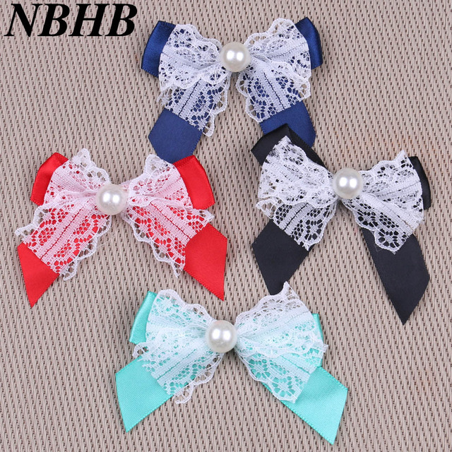 Nbhb 20pcs Bow Tie For Sewing Satin Ribbon Wedding Party Decoration