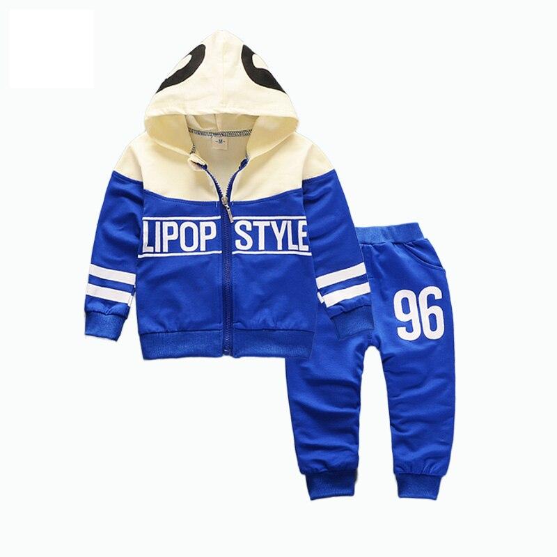 Spring Autumn Baby Boys Girls Tracksuit Fashion Children Hoodies Pants 2Pcs/Sets Kids Brand Clothes Toddler Cotton Clothing Suit