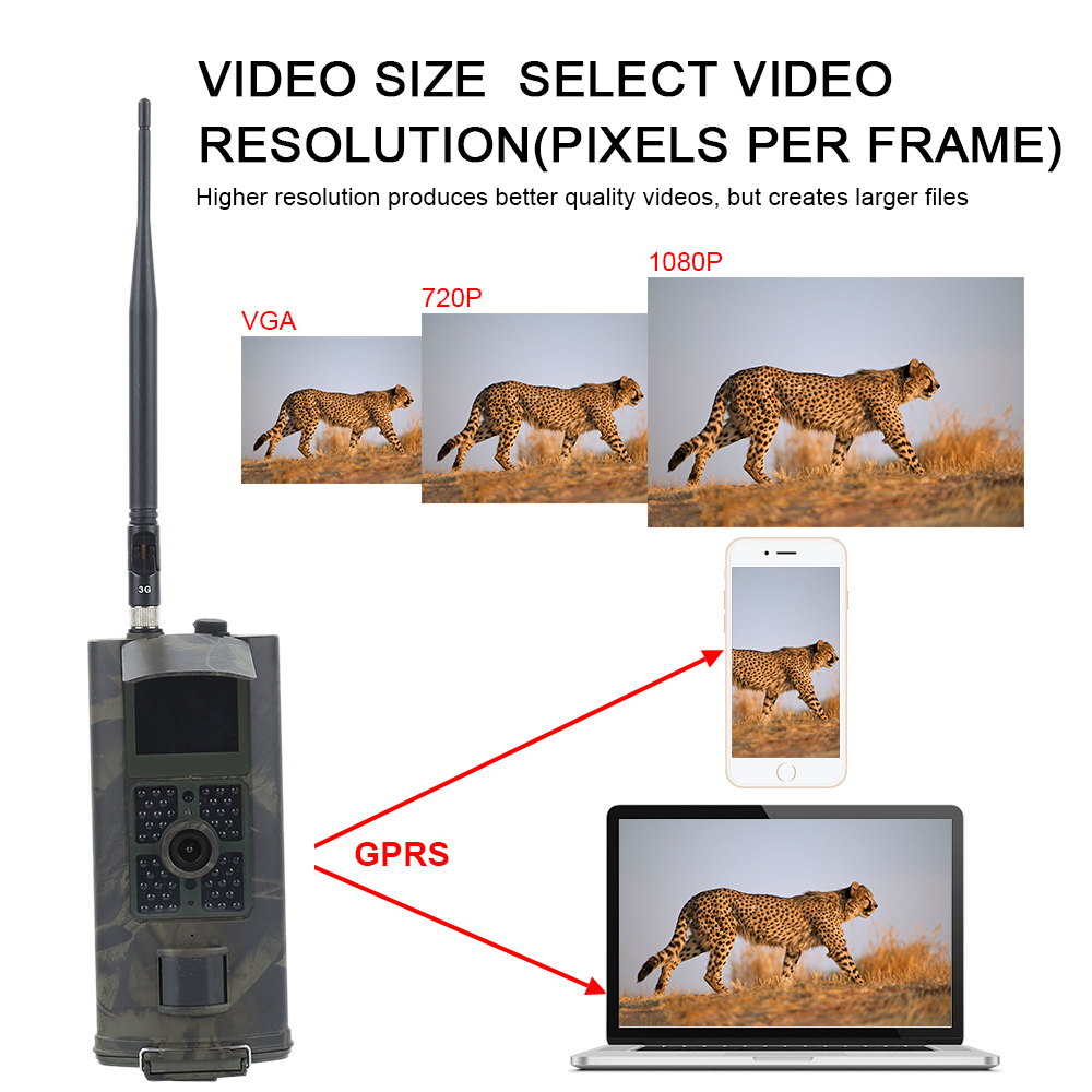HC700G Hunting Camera 3G 16MP 1080P Infrared Night Vision Trail Cameras Wildlife Scouting Chasse hunters Photo