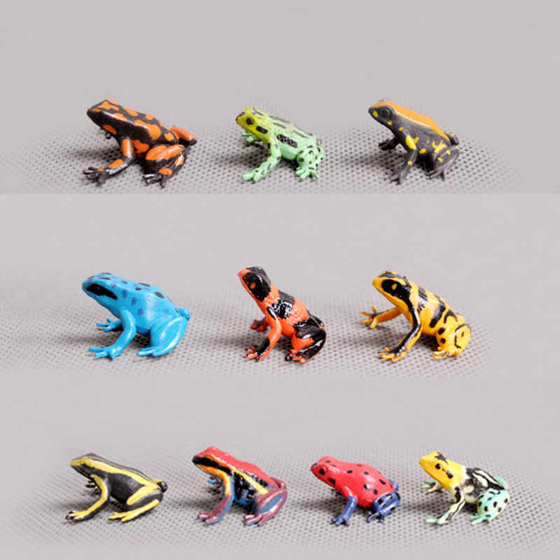 Sale 10pcs Mini Frogs Fairy Garden Gnome Moss Terrarium Home Decor