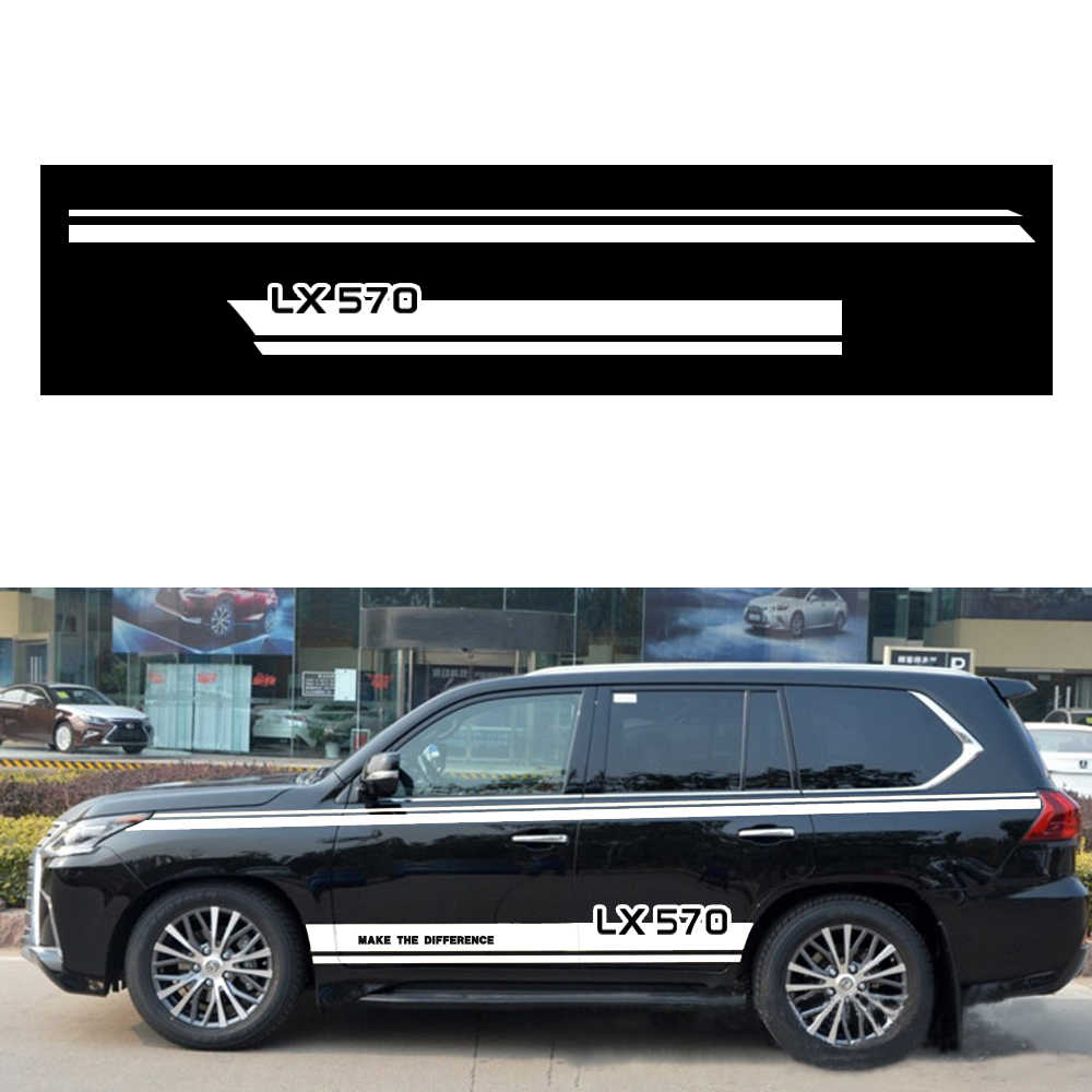 Car Racing Sticker Car Side body Decals Stickers For Lexus LX570 for  Hatchback Sedan SUV DIY Car Decoration 2M Car Accessories
