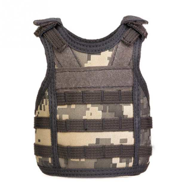 US $5 08 |Tactical Vest Layer Military Beer Bottle Set Mini Molle vest  Hunting Bottle Drink set Adjustable Shoulder Straps-in Hiking Vests from  Sports