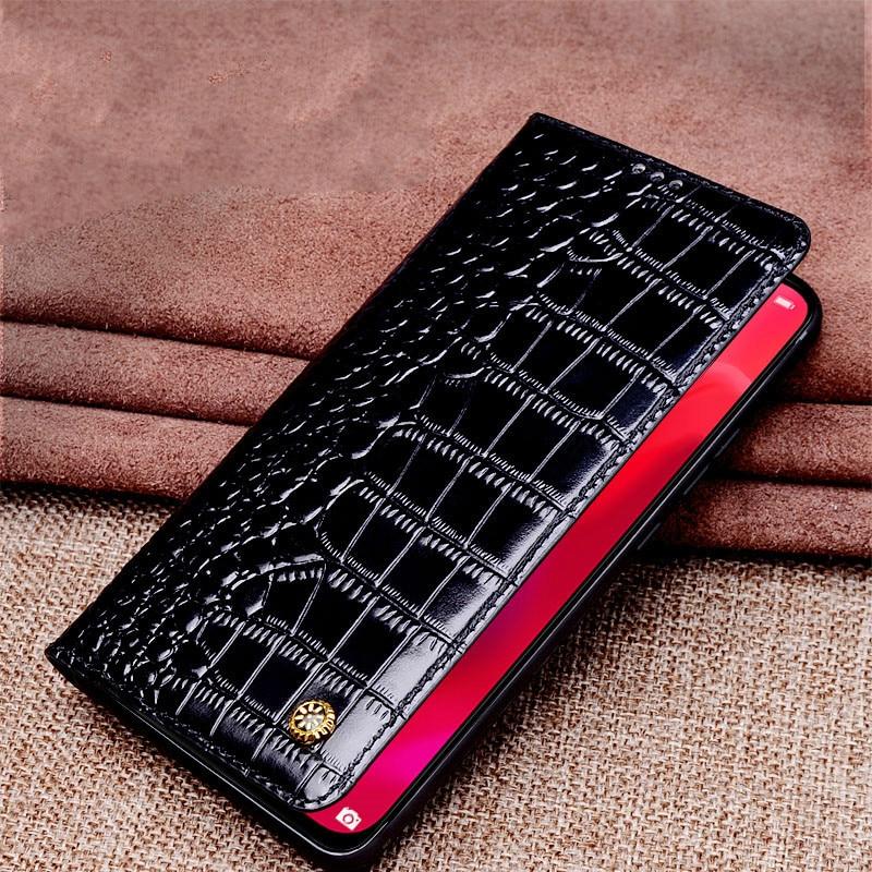 Pour Xiao mi 9 étui mi 9 housse de luxe en cuir de vachette véritable souple coque pour xiaomi mi 9 étui à rabat - 5