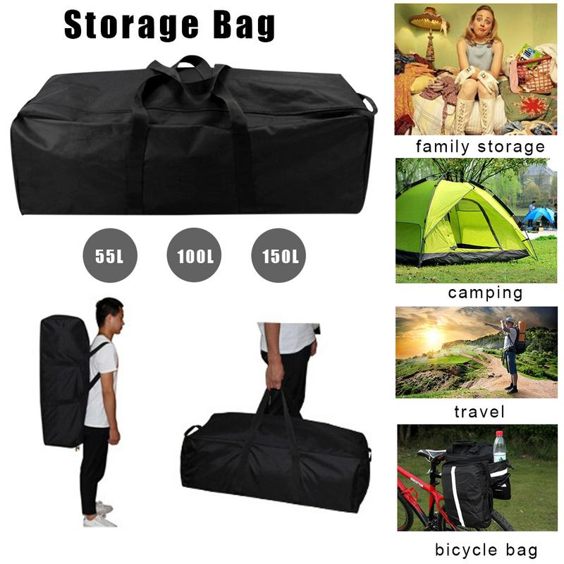 Household Storage Bag Camping 55L 100L 150L Duffle Size S-L Travel Waterproof Foldable Weekend Fow Men And Women