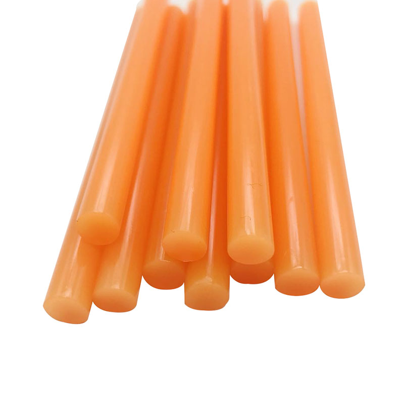 10 Pcs Orange Color 7MM Hot Melt Glue Sticks  For  Electric Glue Gun Car Audio Craft Repair Sticks Adhesive Sealing Wax Stick