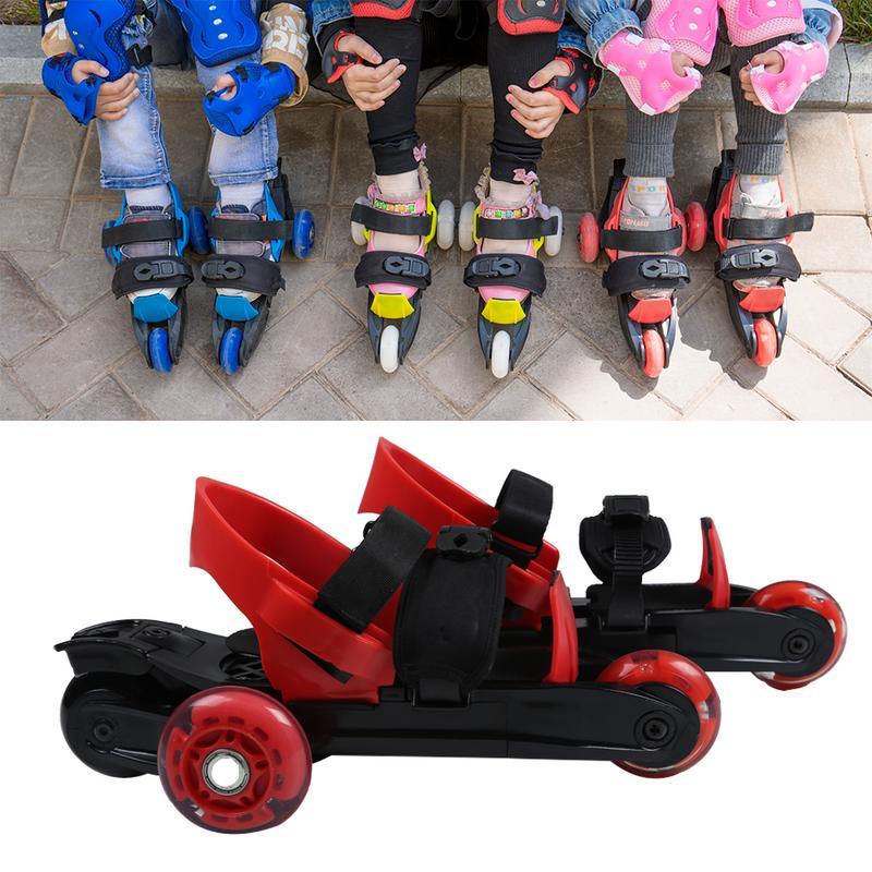 Trois-roue Stabilité De Patins À Roulettes Adulte Enfants de Patins À Glace Professionnel Lumineux Taille Réglable