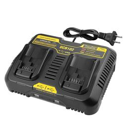Adeeing 10.8V-20V Dual Port Li-ion Charger for Dewalt DCB102 DCB112