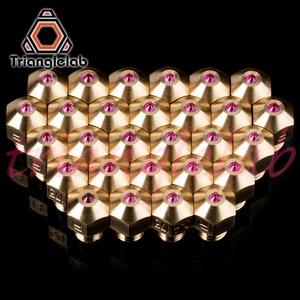 Image 3 - Trianglelab عالية درجة الحرارة MK8 روبي فوهة 1.75 مللي متر متوافق مع مواد خاصة PETG ABS بى نظرة خاطفة النايلون الخ روبي فوهة