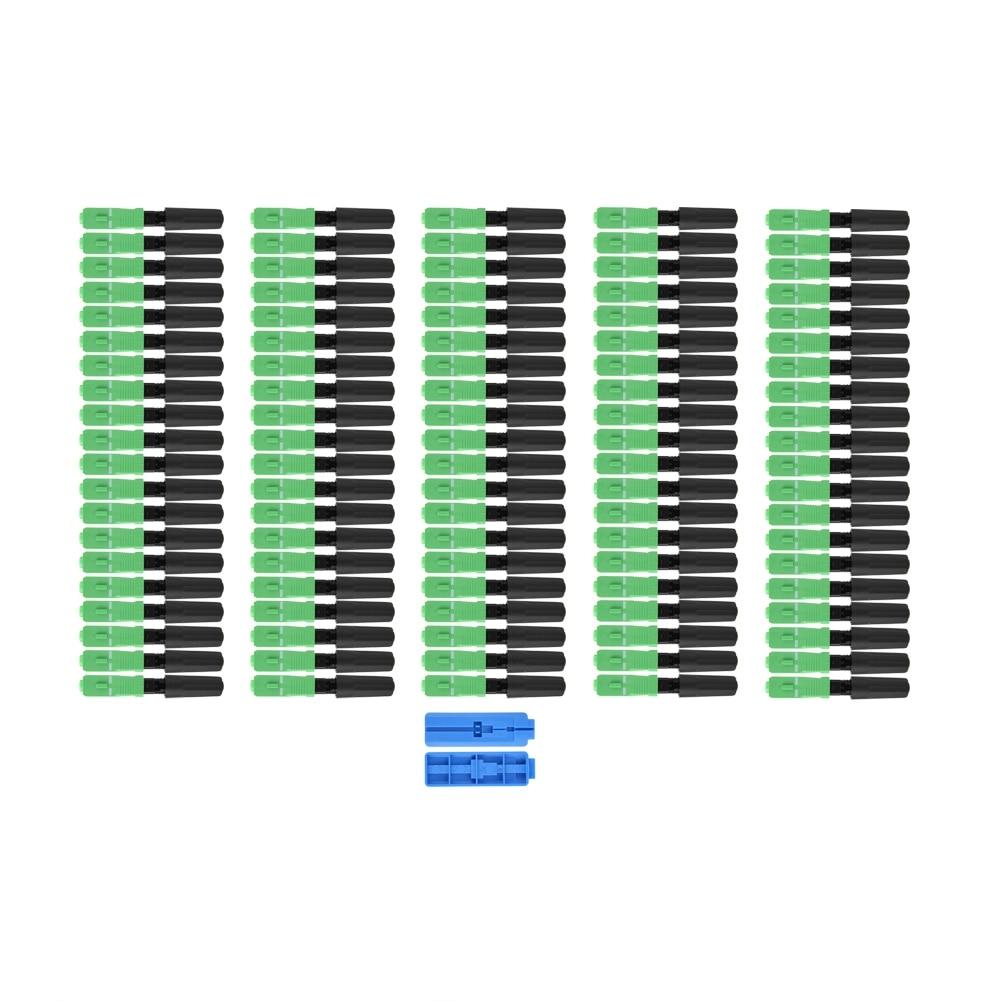 100 Pcs/Lot SCAPC Intégré adaptateur de raccordement Fiche Droite Durable Optique fibre connecteur rapide