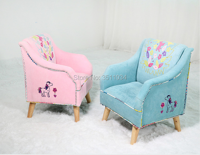 Lovely princess sofa Girl Sofa with Embroidery Patte Comfortable Living room leisure Bean bag sofa Students/Kids home furniture