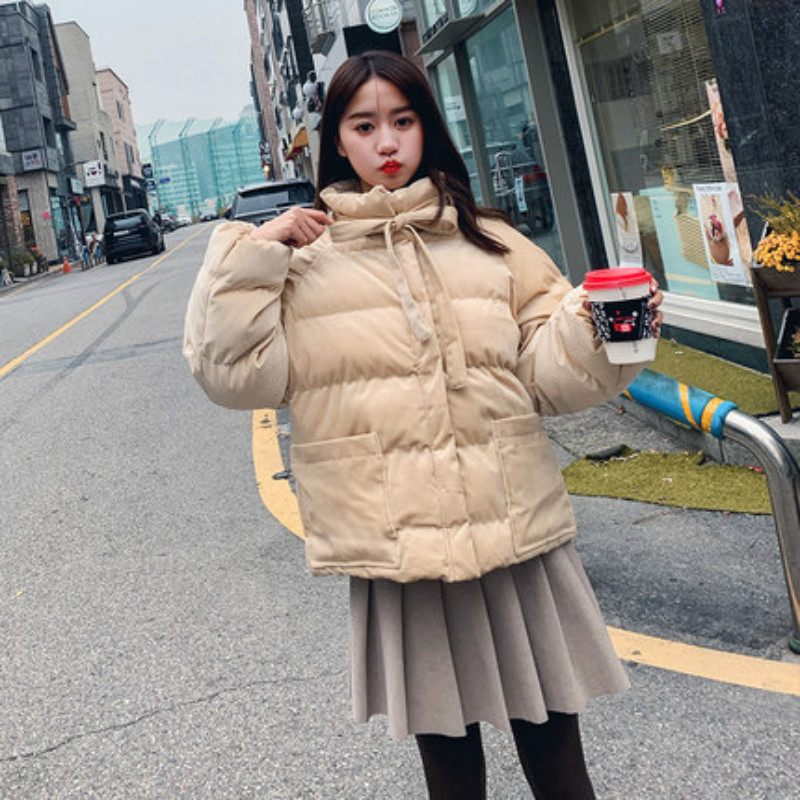 New Corduroy Autumn Winter   Parkas   Stand Collar Coat Long/short Thick Casual Jacket Female Plus Size Outwear   Parkas   Casco Femmino