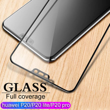 Full coverage Tempered glass for huawei p20 lite glass huawei p20 pro lite screen protector huawei p20 pro lite Protective glass(China)