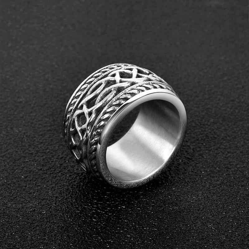 Jiayiqi мужское ретро кольцо Stinaless стальное кольцо Модные мужские ювелирные изделия