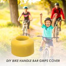 Assembly Silicone Children small cycle Bar Cover Bike Bicycle Single Handle Bar Grips Cover Children MTB bike props with protect(China)