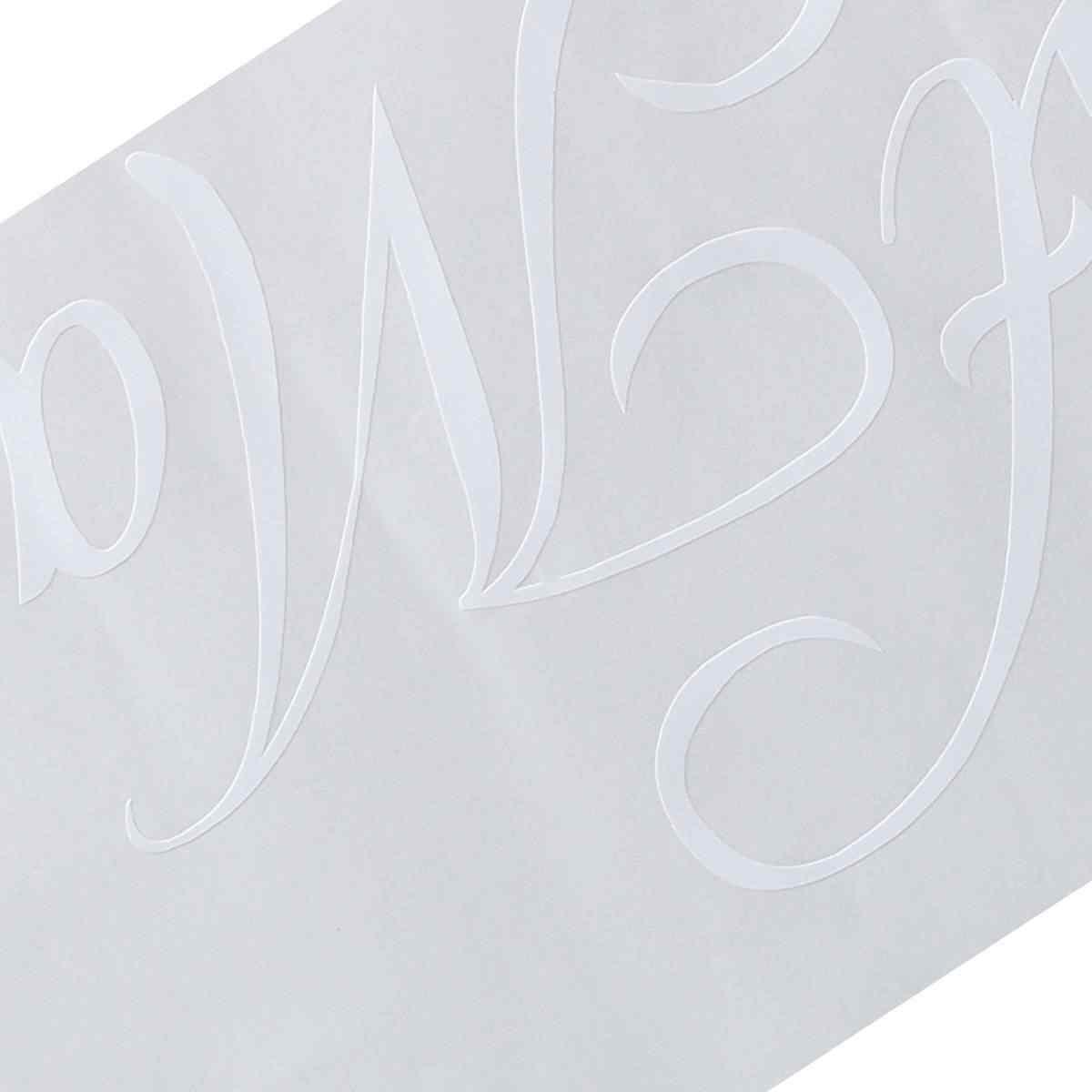 Recién Casados coche de boda estandarte para la ventana Adhesivo resistente al agua de PVC pegatina vinilo decoración personalizada coche insumos para decoración de boda