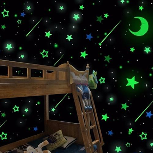20Pcs Luminous Glow in the Dark Stars Moon Decals Party Home Decor Wall Stickers Hot 3D For Kids Baby Room Bedroom Ceiling