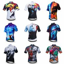 Men Cycling Short Sleeve Shirt Bike 3D Bicycle Clothes Clothing Summer Pro Tops Quick Dry Cycling Jerseys Ropa Ciclismo