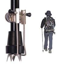 Walking Claw Crampon Sticks akcesoria do trzciny kij do trekkingu uchwyt do mocowania końcówki lodu na laski lub kule