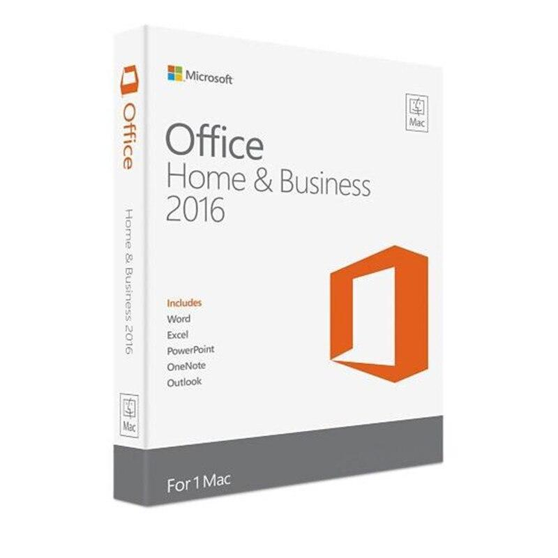 Image 2 - Microsoft Office для дома и бизнеса 2016 для Mac лицензионный Код продукта розничная торговля в коробке-in Офисное ПО from Компьютер и офис